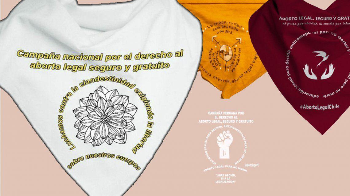 De Argentina para América Latina: éstos son los pañuelos para pedir por el aborto legal