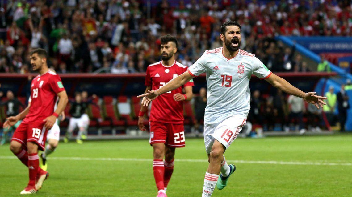 Con sufrimiento, España venció a Irán y se acomodó en el Grupo B
