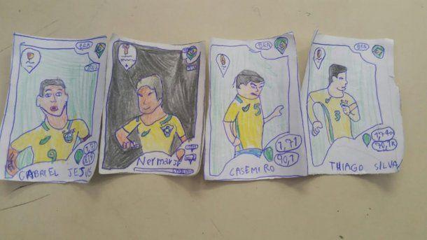 Gabriel Jesús, Neymar, Casemiro y Thiago Silva, los ídolos de Pedrinho<br>