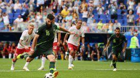Australia sacó un empate ante Dinamarca y dejó abierta la definición del Grupo C