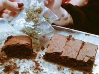 Brownie con marihuana