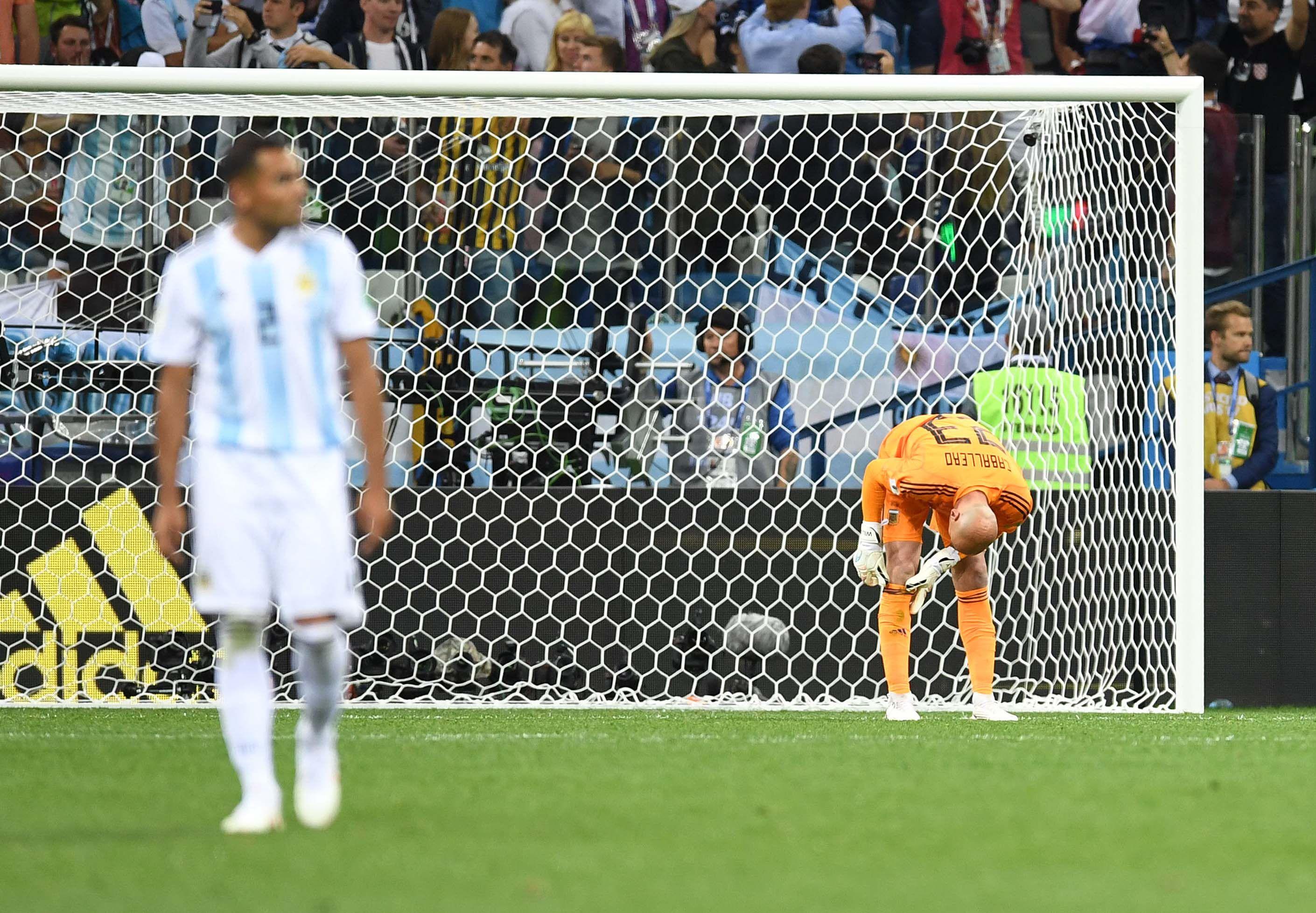 El insólito error de Caballero que le sirvió el primer gol a Croacia