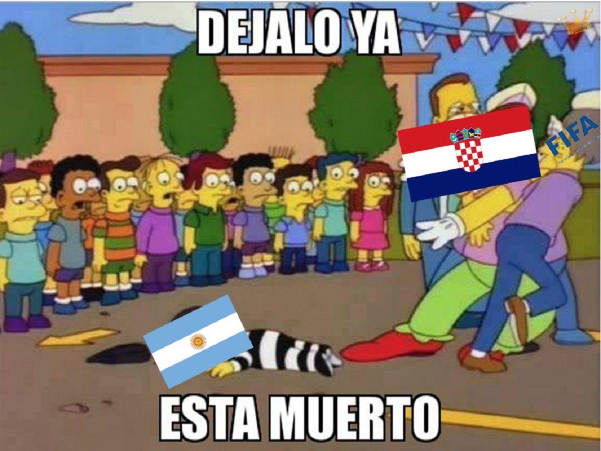 Memes de la derrota de Argentina ante Croacia en el Mundial