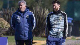 Jorge Burruchaga y Lionel Messi