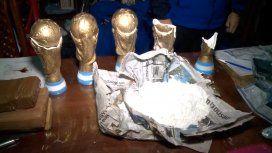Detuvieron a los Campeones de la droga: escondían cocaína en réplicas de la Copa
