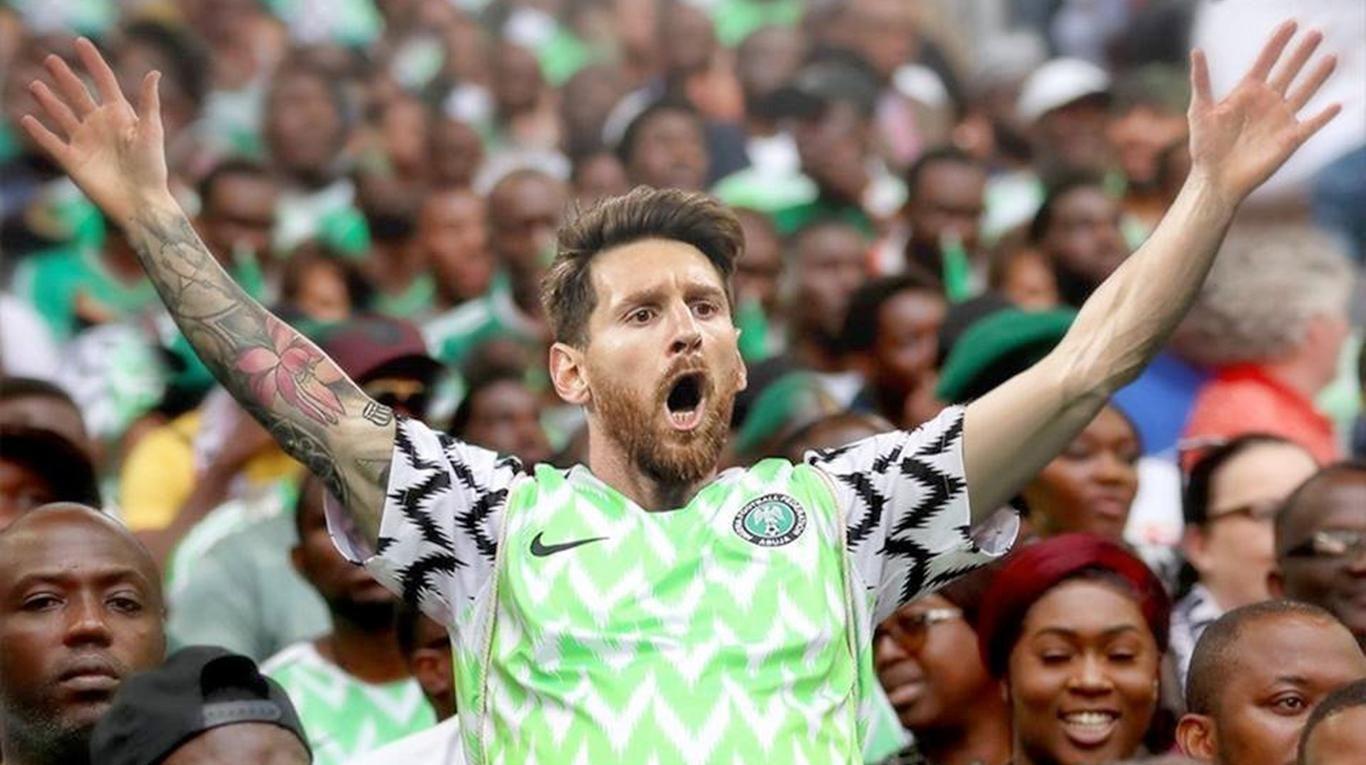 En las redes se atrevieron a imaginar a Lionel Messi con la camiseta de Nigeria