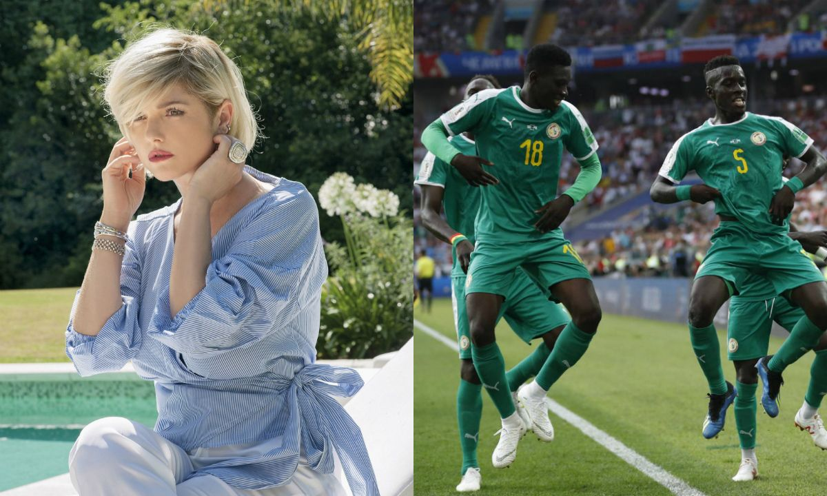 Araceli González apoya a Senegal en Rusia 2018