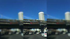 ¡Gracias Nigeria! ¡Vamos Argentina: el mensaje en los carteles indicadores de la Ciudad