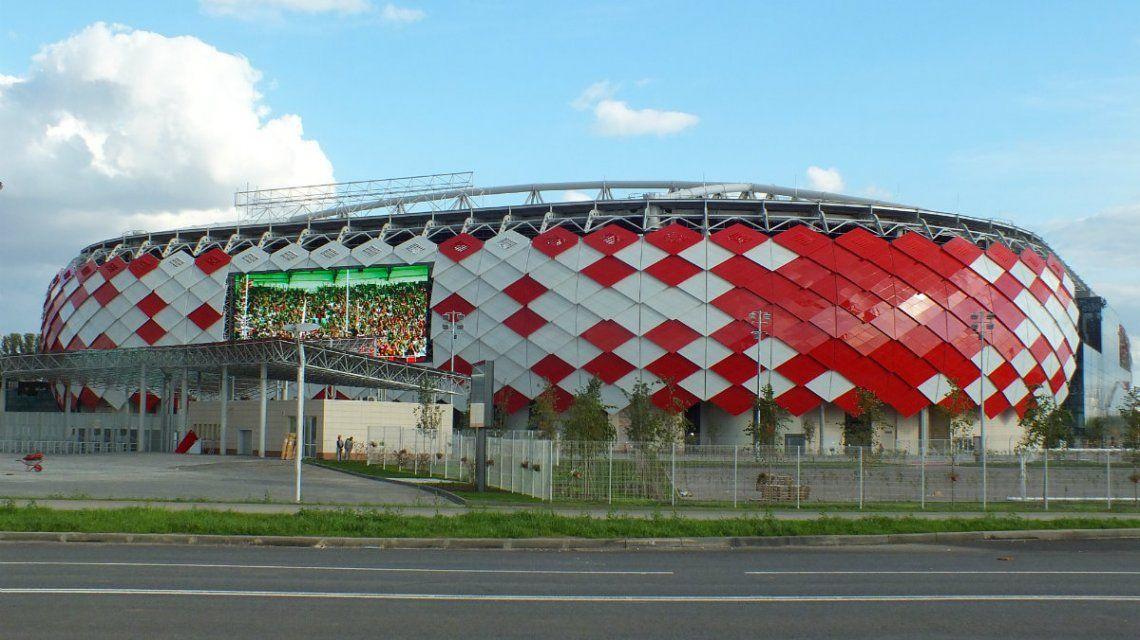 El estadio del Spartak será el escenario del primer partido del sábado