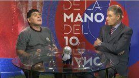 Maradona con Víctor Hugo Morales
