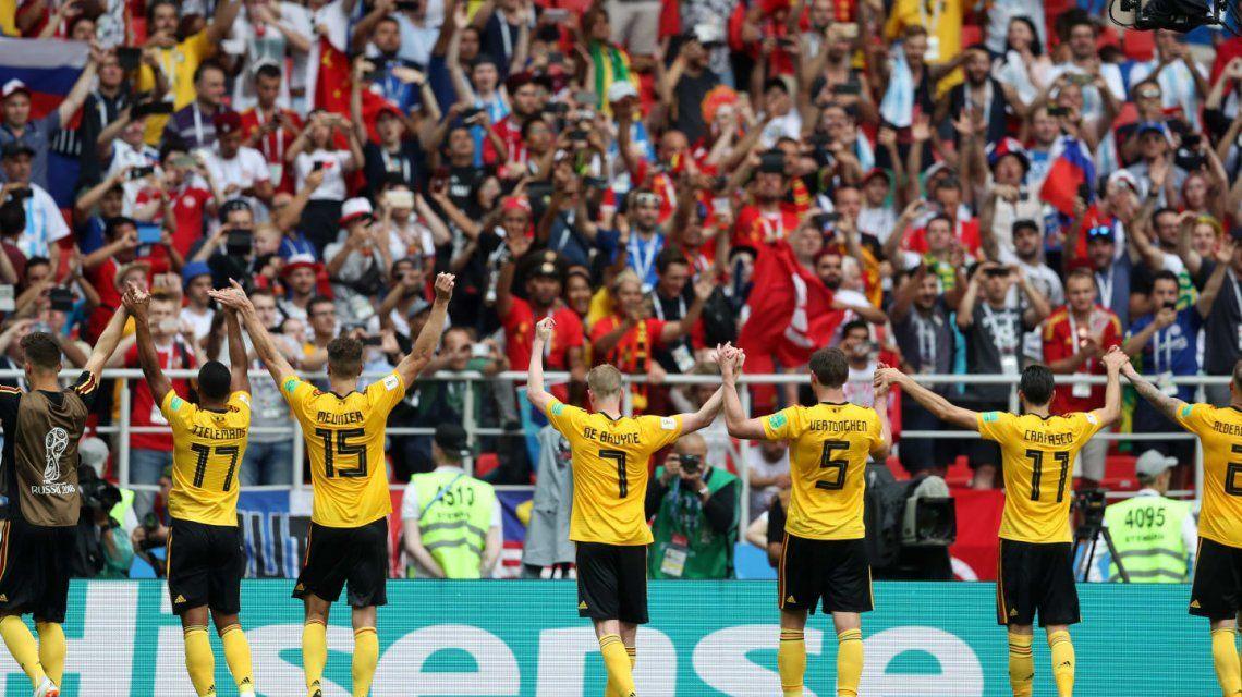 Bélgica goleó a Túnez y tiene casi asegurada la clasificación a octavos de la Copa