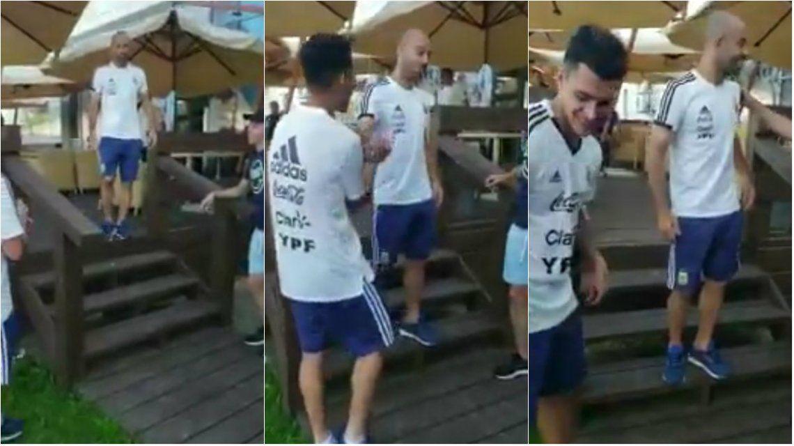 VIDEO: Me c... a trompadas, Mascherano a Pavón tras los rumores de pelea