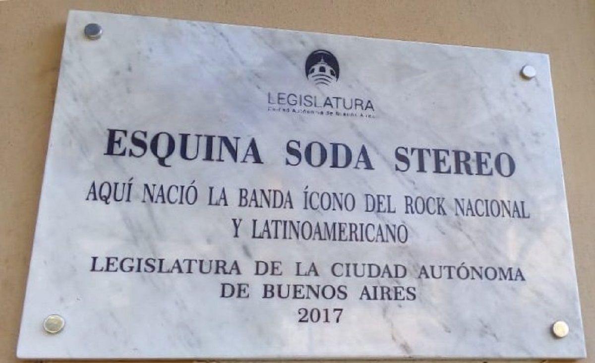 Nueva placa de Soda Stereo en Ciudad de Buenos Aires - Crédito:@LegisCABA
