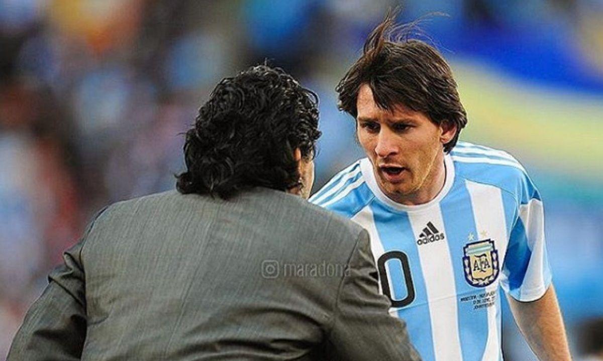 El saludo de Diego Maradona a Messi por su cumpleaños