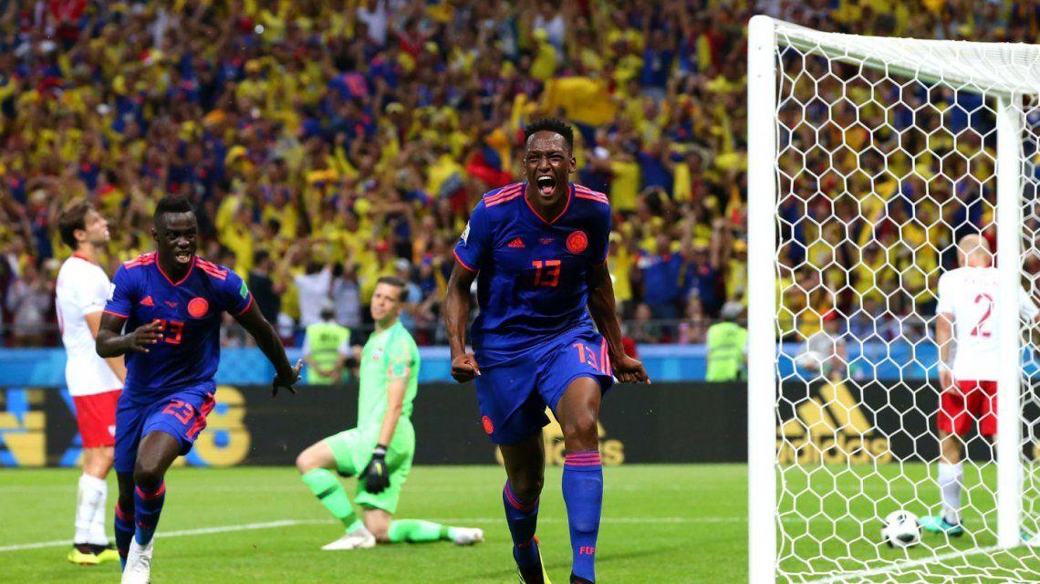 Gol de Mina para Colombia ante Polonia - Crédito:fifa.com