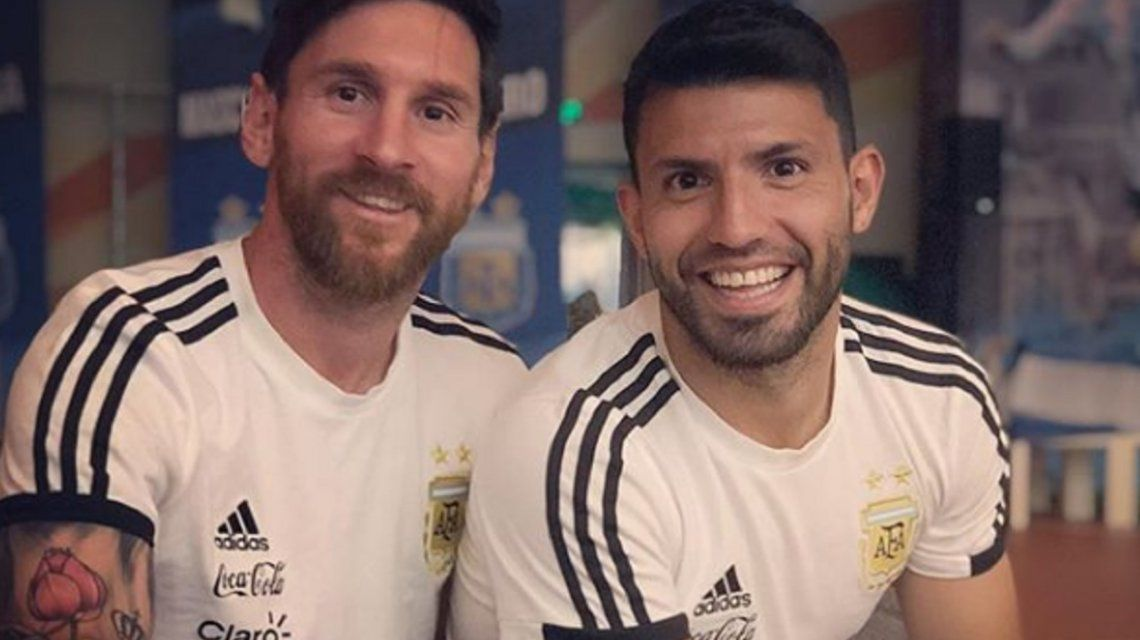 El saludo del Kun Aguero a Lionel Messi por su cumpleaños