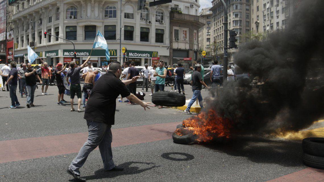 Protesta en el Obelisco