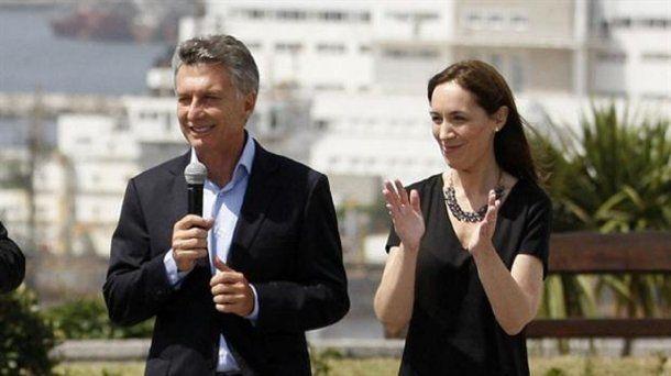 <p>Mauricio Macri y María Eugenia Vidal</p>