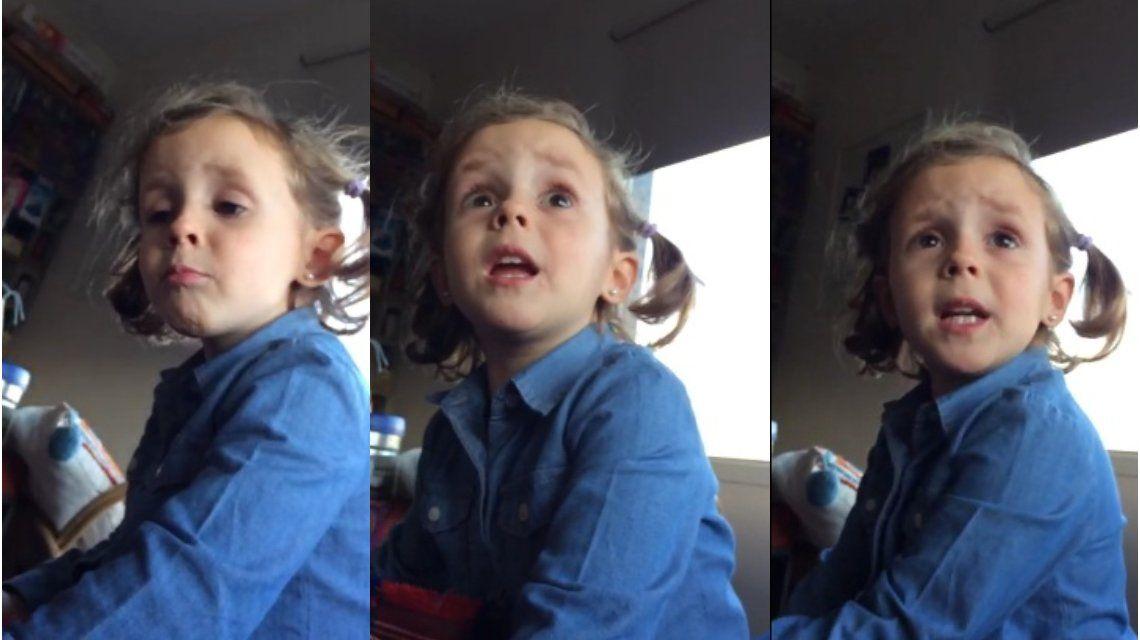 VIDEO: Una nena retó a su papá y le dio una lección por insultar a los jugadores de la Selección