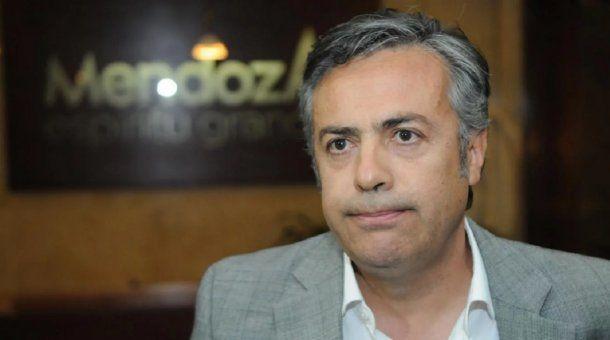 Alfredo Cornejo, gobernador de Mendoza<br>