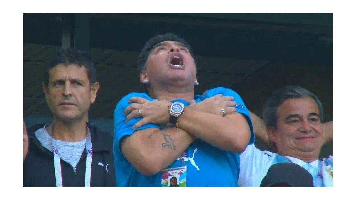 Maradona festeja como nunca