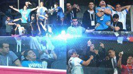Baile, euforia, insultos y descompensación: el partido aparte de Diego
