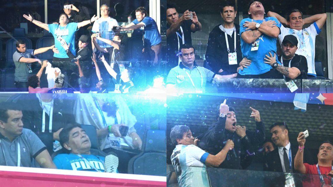 Reencuentro, baile, euforia, angustia y descompensación: el partido aparte de Diego Maradona