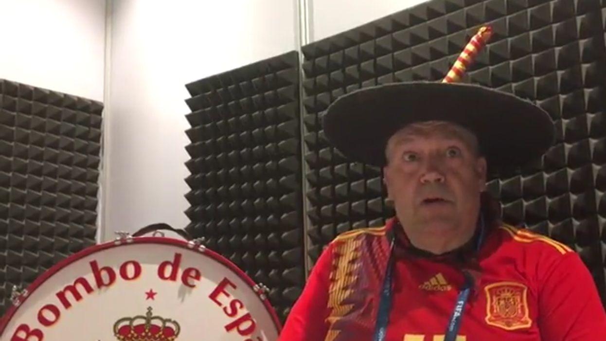 El drama de Manolo y su bombo en el Mundial