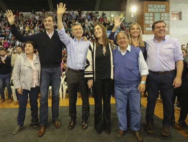 Ocaña, Bullrich, Macri, Vidal, Flores, González y Montenegro<br>