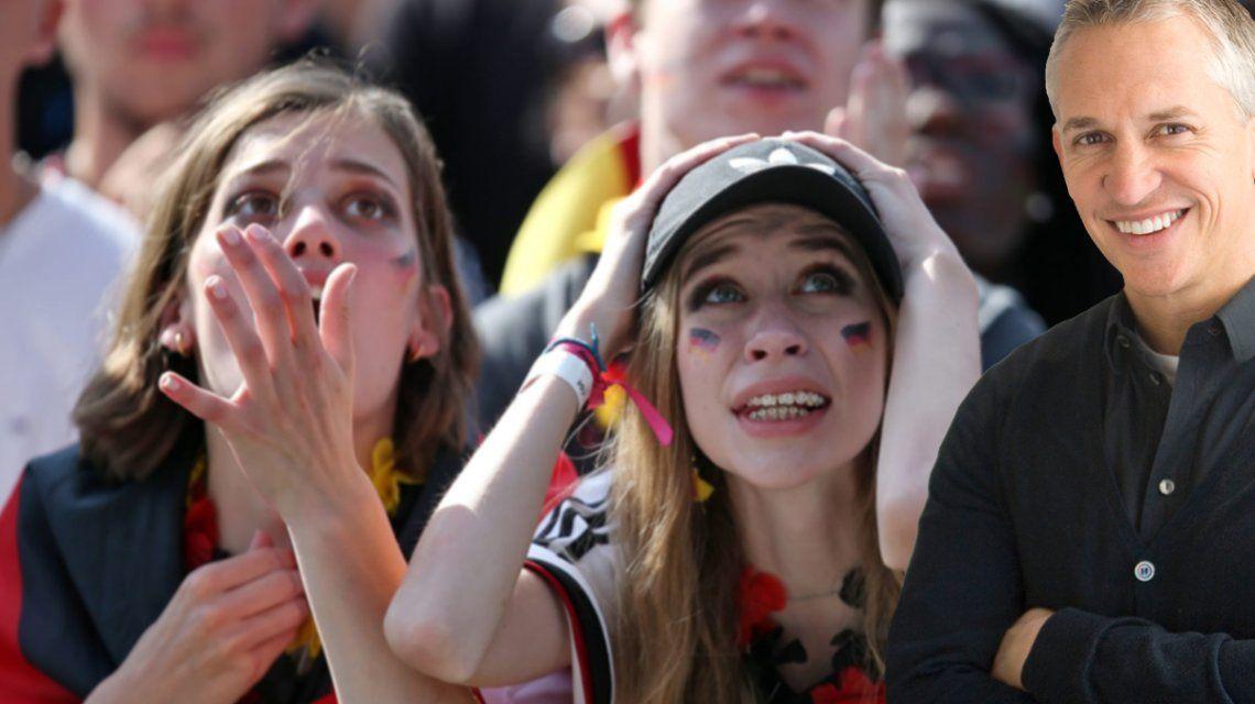 Gary Lineker tuvo que reformular su famosa frase sobre Alemania tras la eliminación del Mundial 2018