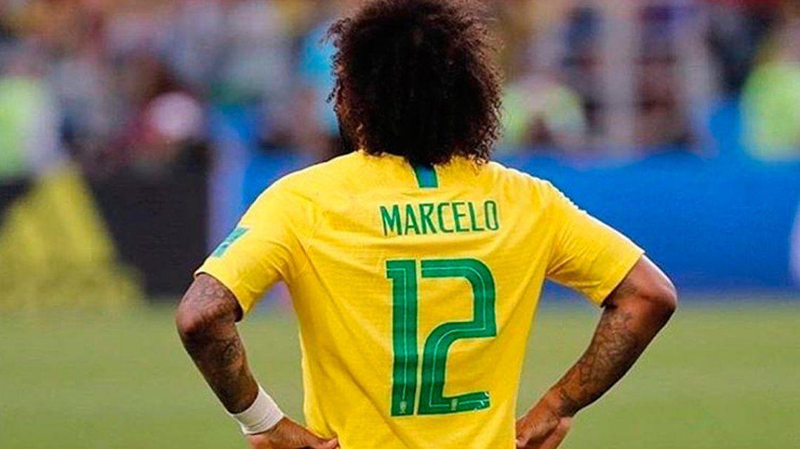 ¿No fue jugando? La lesión de Marcelo en Brasil tiene una explicación increíble