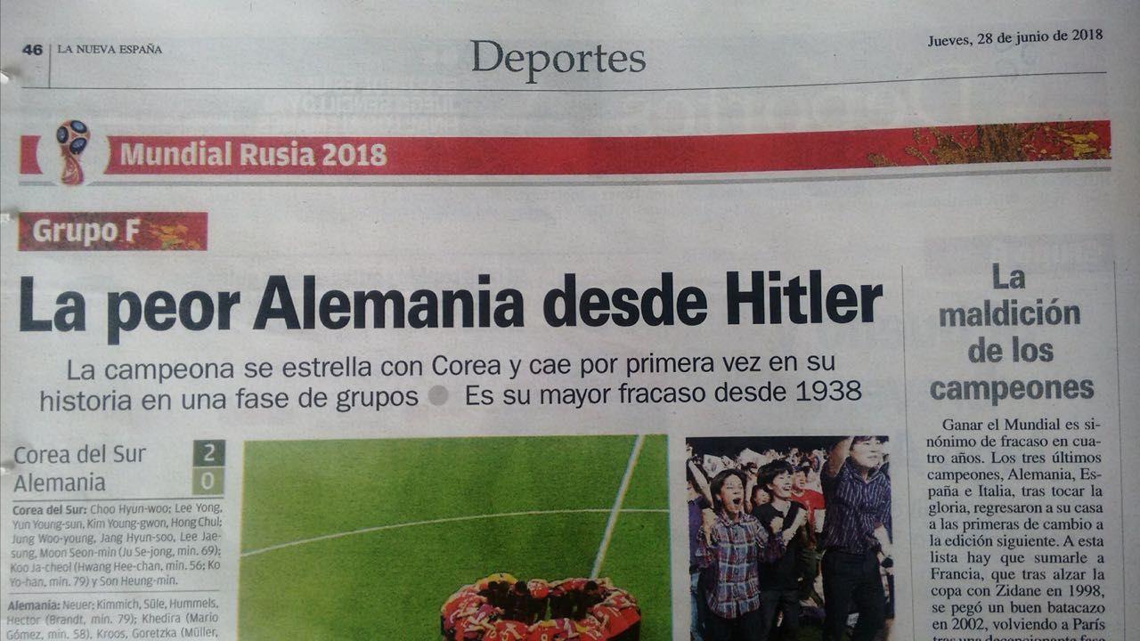 El polémico titulo de un diario español para graficar la eliminación de Alemania