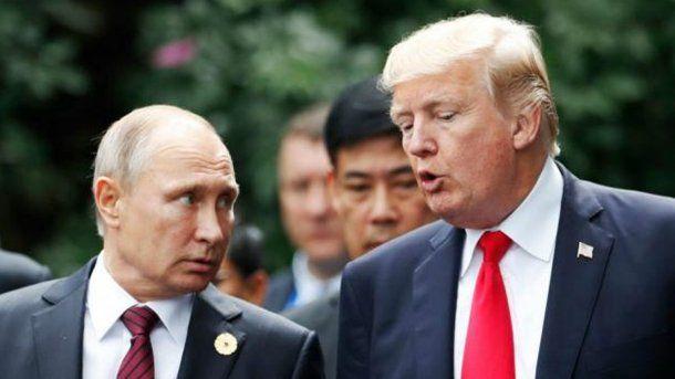 Vladimir Putin y Donald Trump<br>