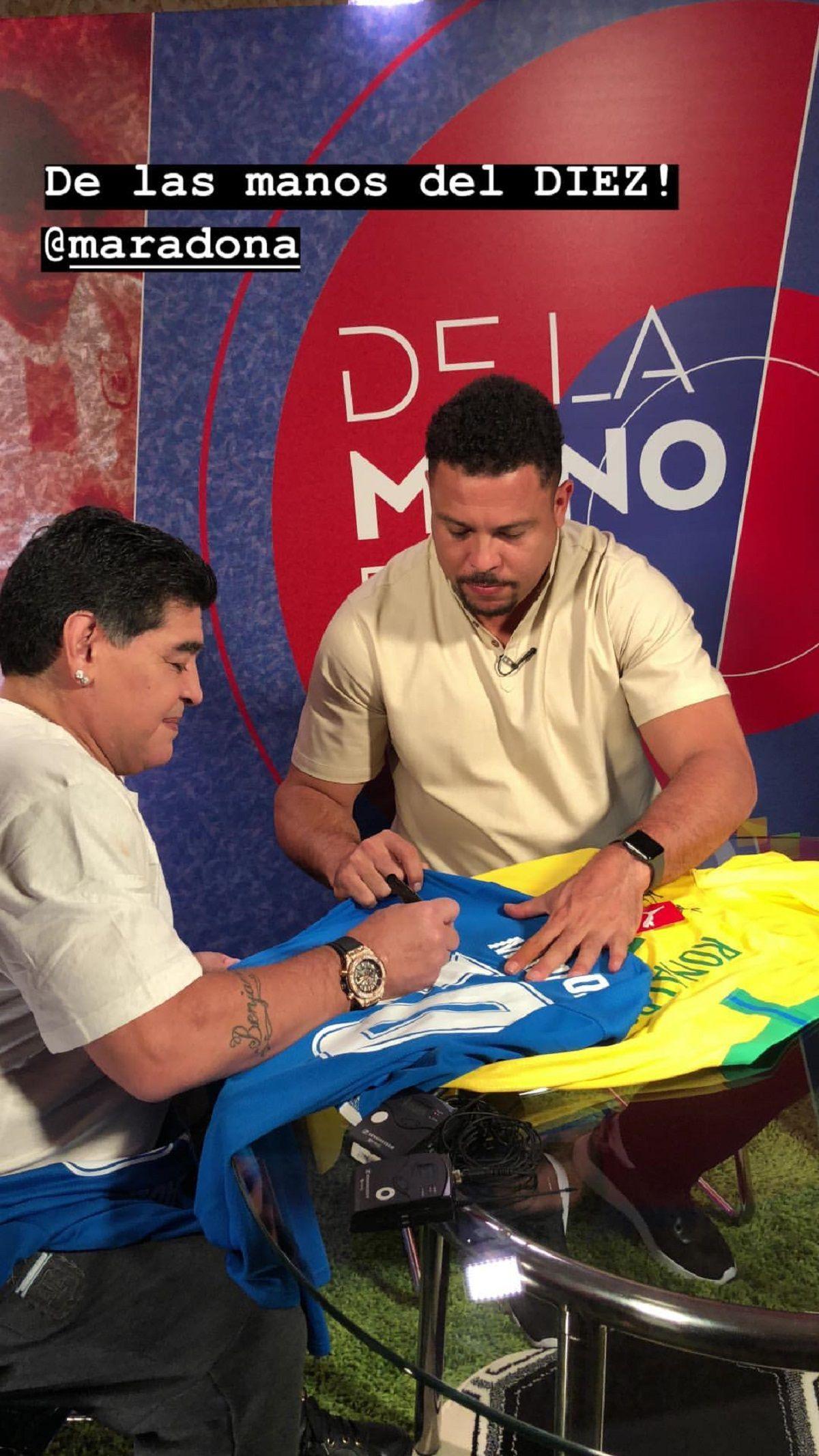Maradona y Ronaldo