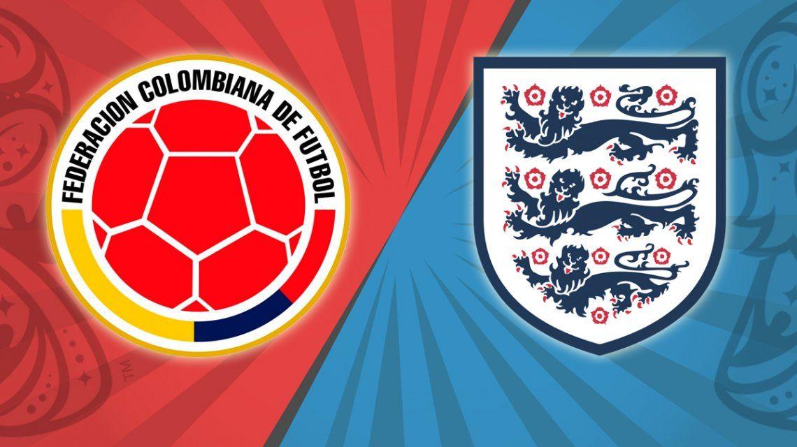Colombia vs. Inglaterra por los octavos de final del Mundial: horario, formaciones y TV