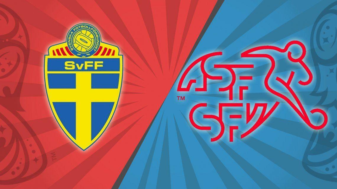 Suecia vs. Suiza por los octavos de final del Mundial: horario, formaciones y TV