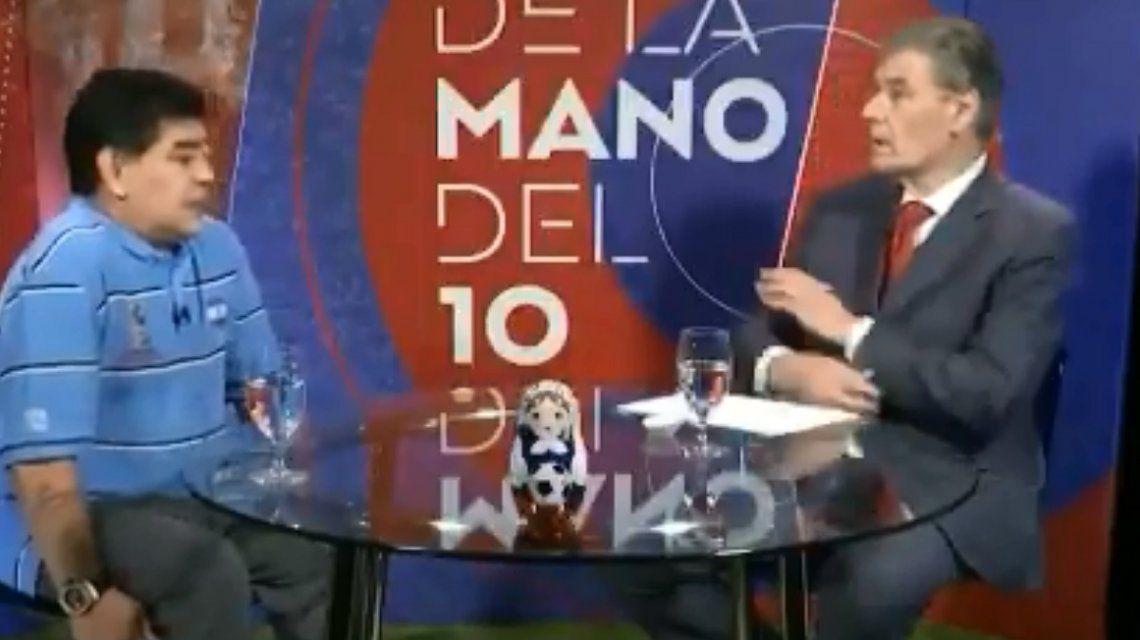 Maradona y Víctor Hugo Morales
