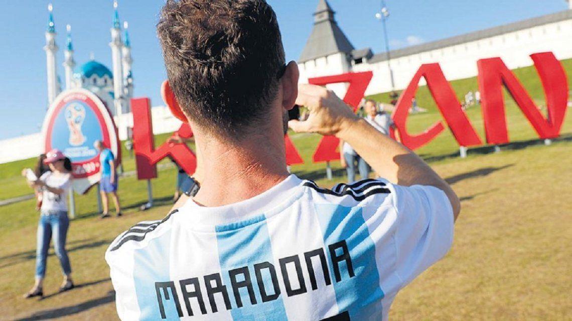 Los argentinos coparon Kazan