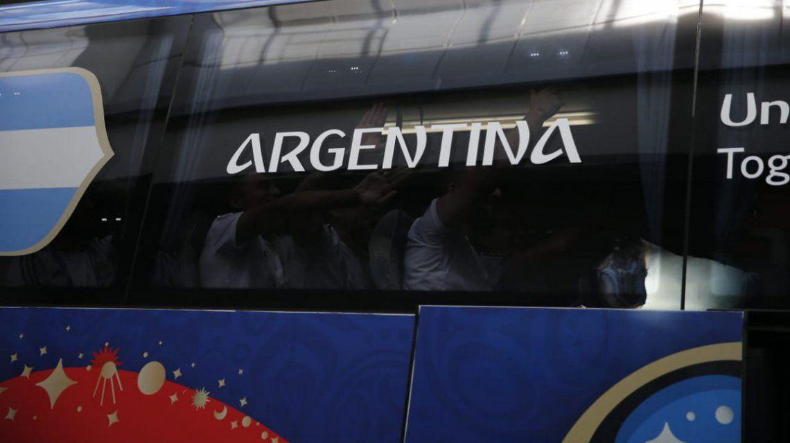 La Argentina llegó con buen ánimo al Kazan Arena