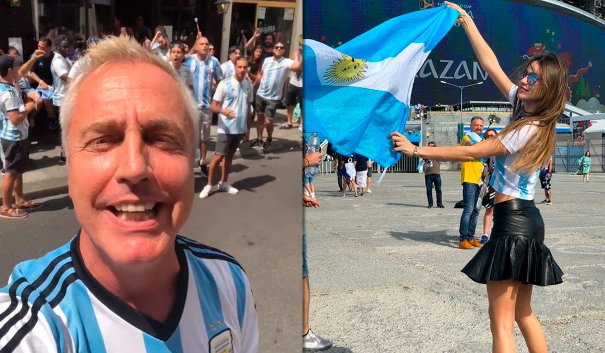 Los famosos virbran con Argentina - Francia