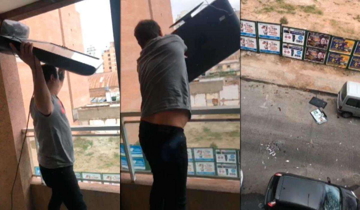 La otra cara de la eliminación de Argentina: tiró un plasma por la ventana