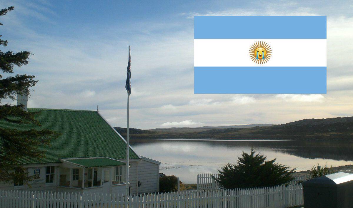 Desde las islas Malvinas festejaron la derrota argentina en Rusia 2018