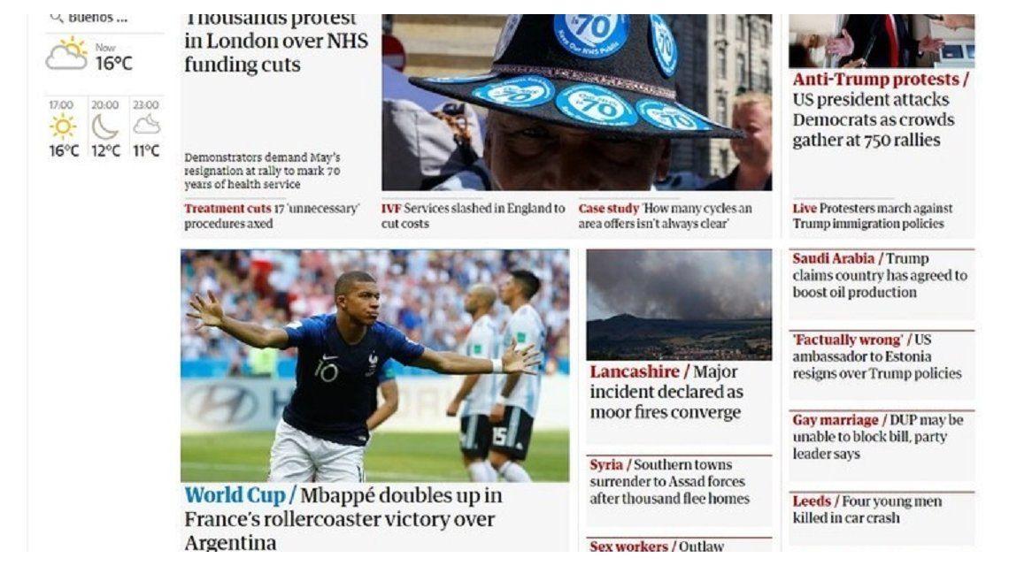 La prensa europea compara a Mbappé con Pelé