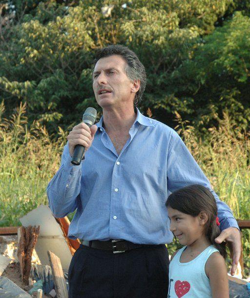 Mauricio Macri con Melina en 2007<br>