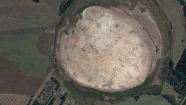 El pene dibujado en un lago seco de Australia fue encontrado en Google Maps