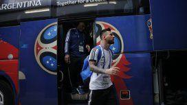 El 10 ya está de vuelta en Barcelona. Foto: @Argentina