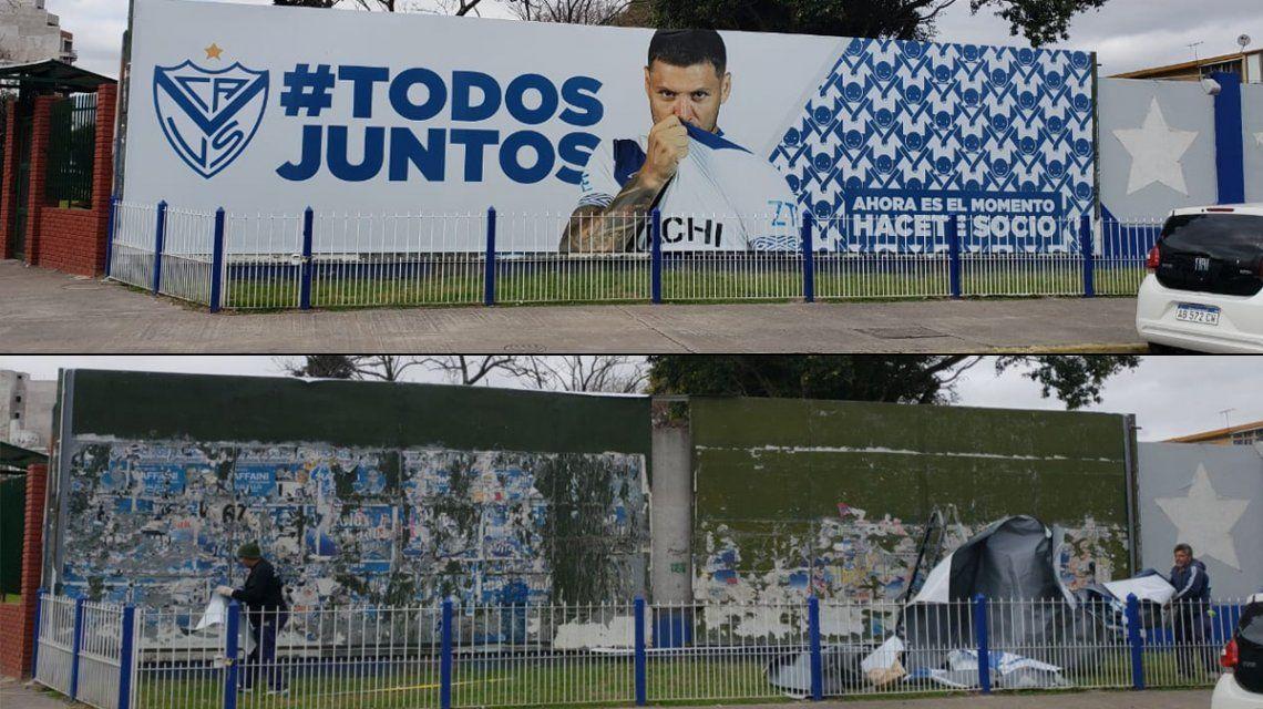 Antes y después de la traición: en Vélez eliminaron a Mauro Zárate de todos lados