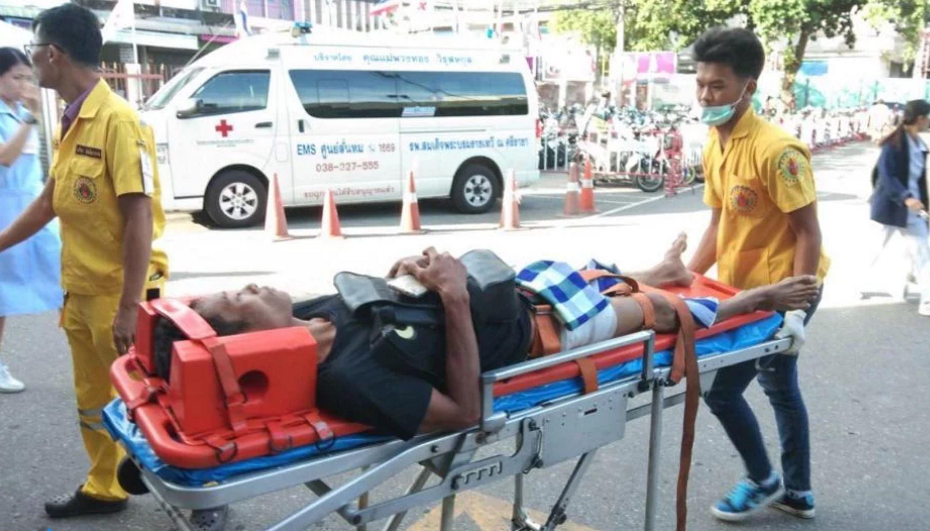 El hombre fue trasladado al hospital Samitivej Sriracha