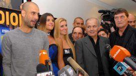 Pep Guardiola, Alejandro Sabella y Julio César Falcioni