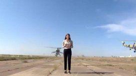 VIDEO: Una periodista casi muere decapitada por un helicóptero